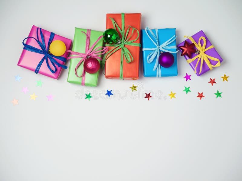 Dozen van de Kerstmis de kleurrijke gift royalty-vrije stock fotografie