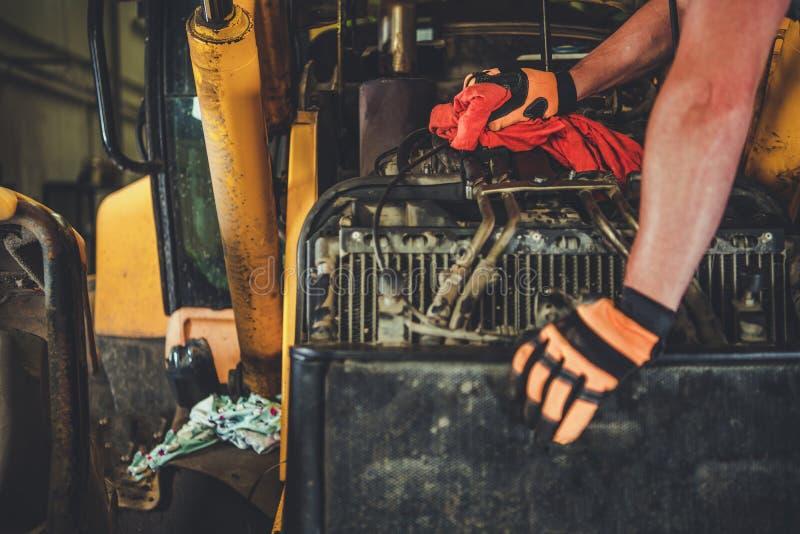 Dozer Repair by Mechanic stock photography