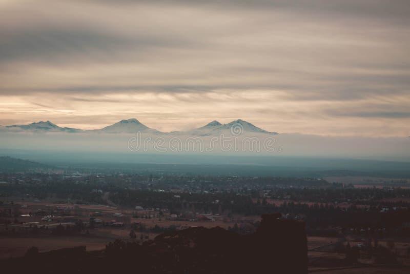 The dozing mountains stock image