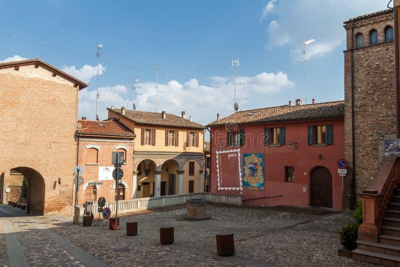 Dozza. Αιμιλία-Ρωμανία. Ιταλία. στοκ φωτογραφία με δικαίωμα ελεύθερης χρήσης