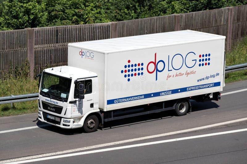 Dp LOG truck royalty free stock image
