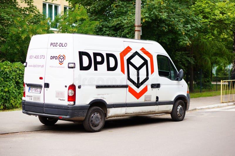 dpd delivery bus editorial stock image image of logistics. Black Bedroom Furniture Sets. Home Design Ideas