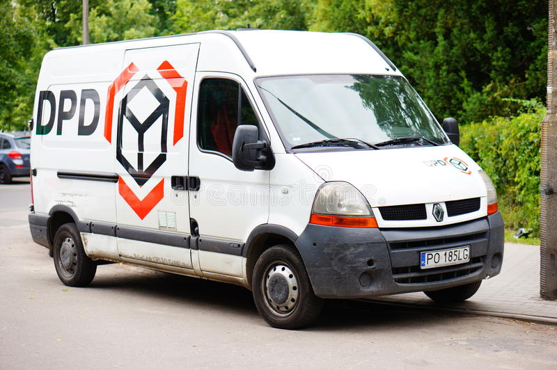 dpd delivery bus editorial photo image of poland parked 41744876. Black Bedroom Furniture Sets. Home Design Ideas