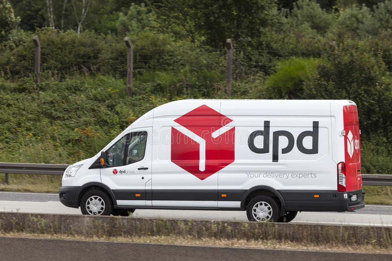 dpd delivery van on the highway editorial stock photo image of geopost truck 74377863. Black Bedroom Furniture Sets. Home Design Ideas