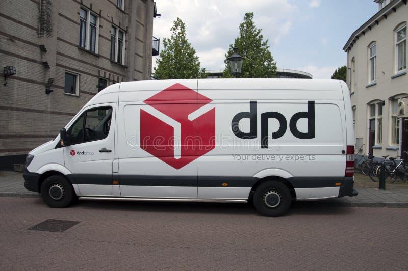 DPD Van На Weesp Нидерланды стоковое изображение rf