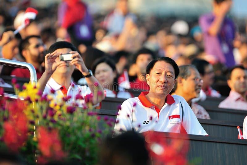 DPM Teo Chee Hean em NDP 2012 imagens de stock