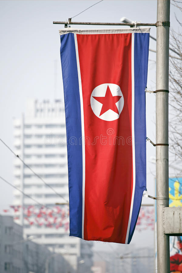 Download DPR Korea flag stock image. Image of closed, communist - 13975551