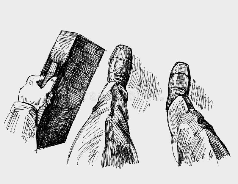 dräkt för affärsman royaltyfri illustrationer