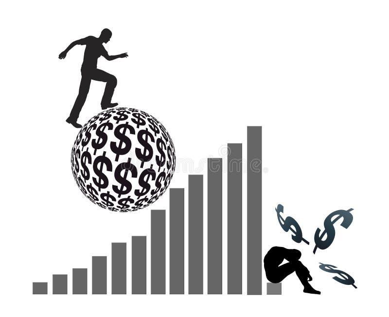 Dröm av rikedom stock illustrationer