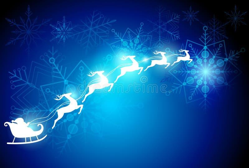 Dröm- bakgrund för jul stock illustrationer
