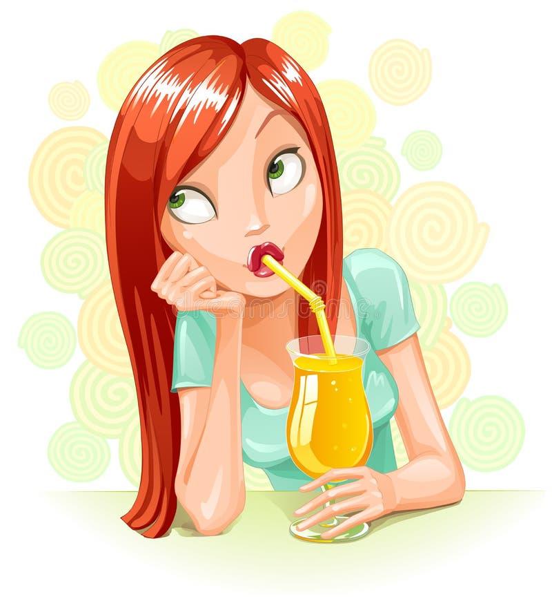 dröm- drink stock illustrationer