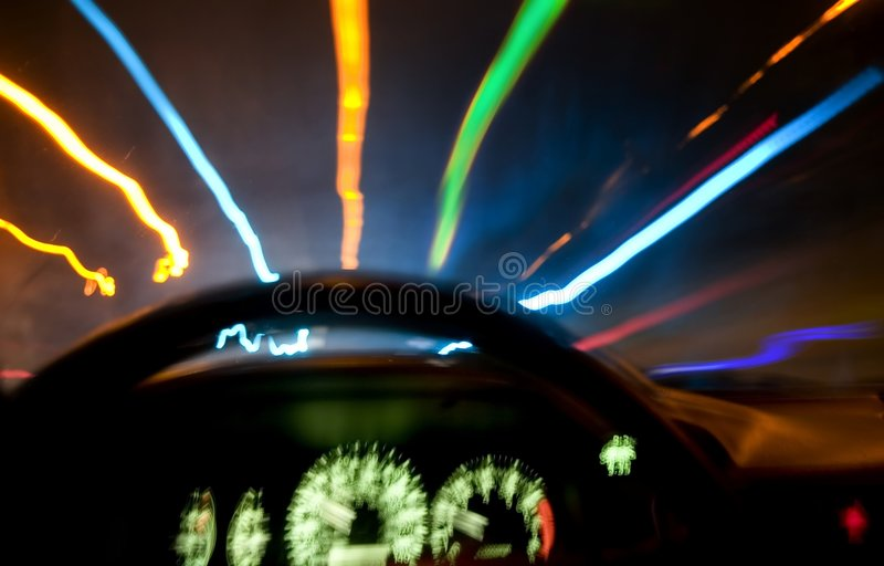 dröm- körning arkivbild