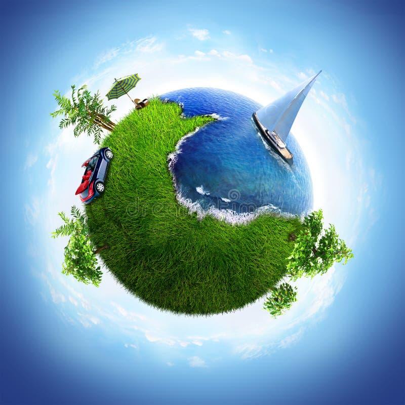dröm- planet stock illustrationer