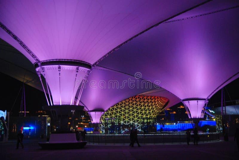 dröm- purple shanghai för expo 2010 royaltyfria foton