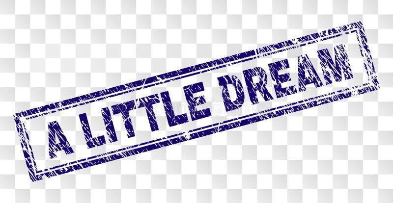 DRÖM- rektangelstämpel för Grunge LITE stock illustrationer