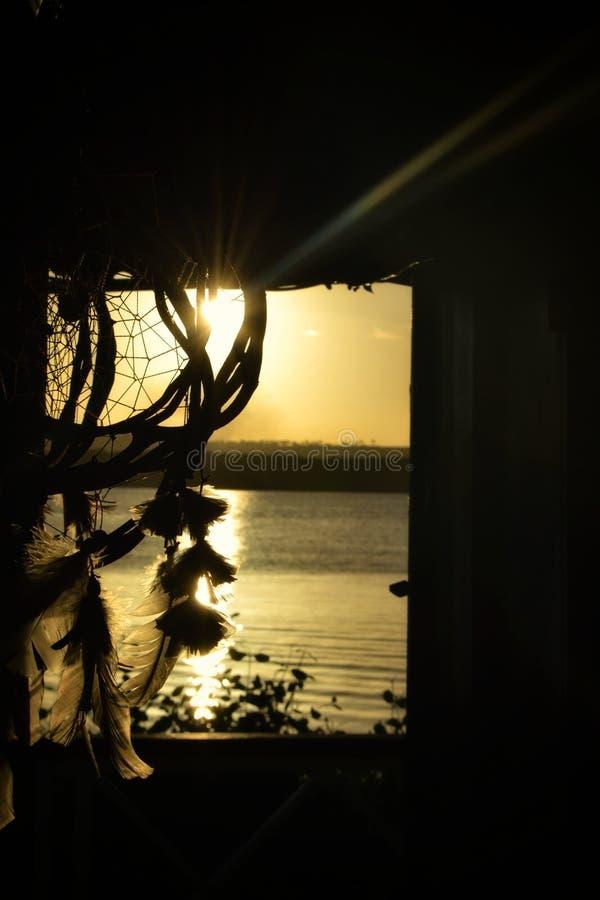 Dröm- solnedgång royaltyfri bild