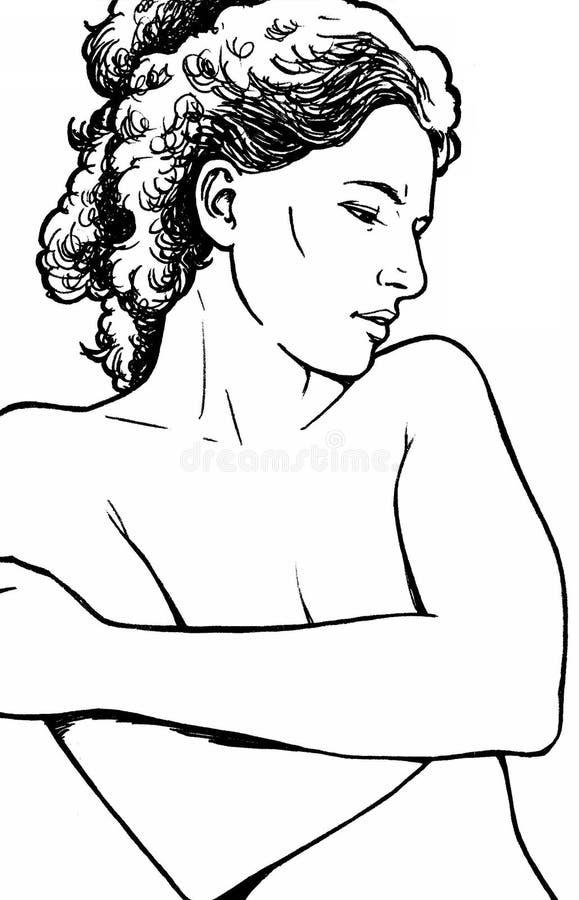 dröm- stående stock illustrationer