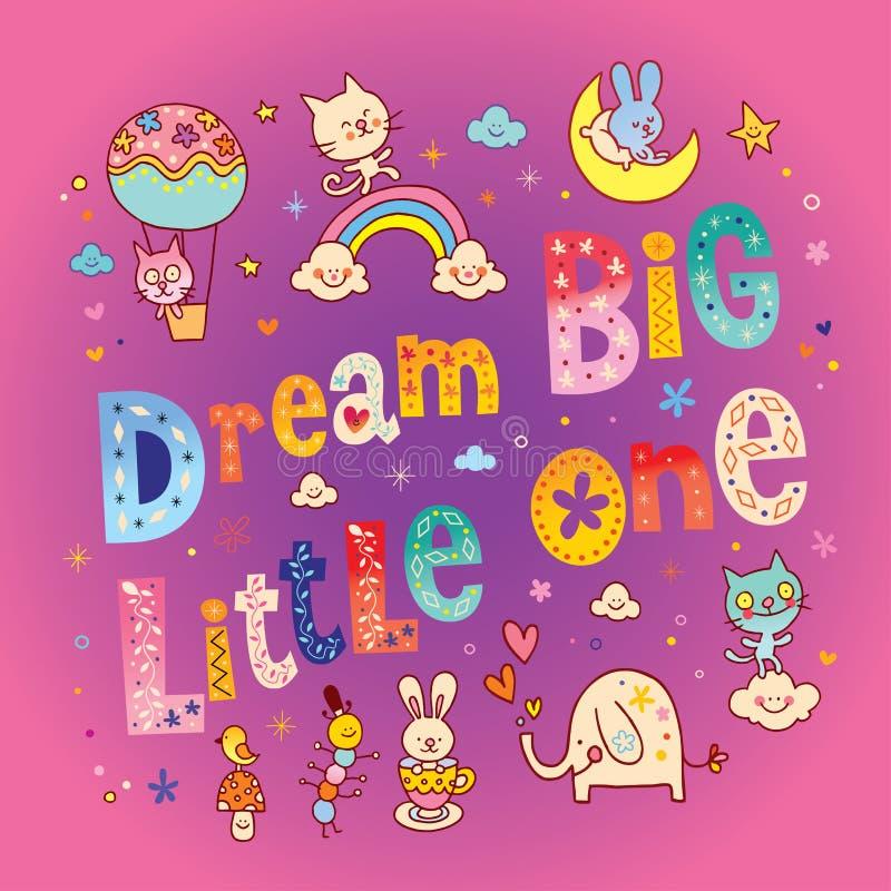 Dröm- stor unge stock illustrationer