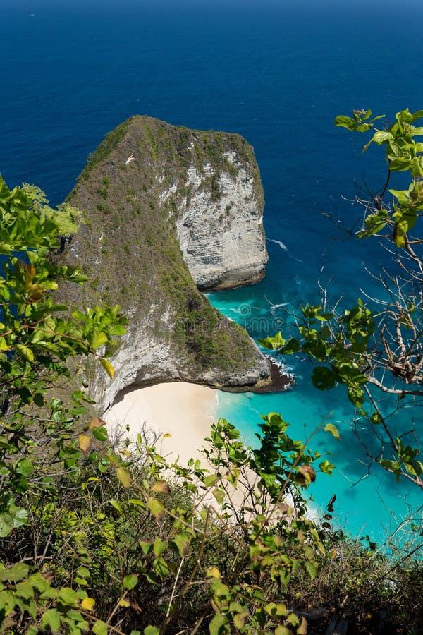 Dröm- strand på Bali royaltyfri bild
