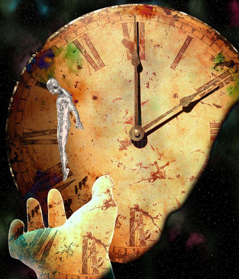 dröm- tid stock illustrationer