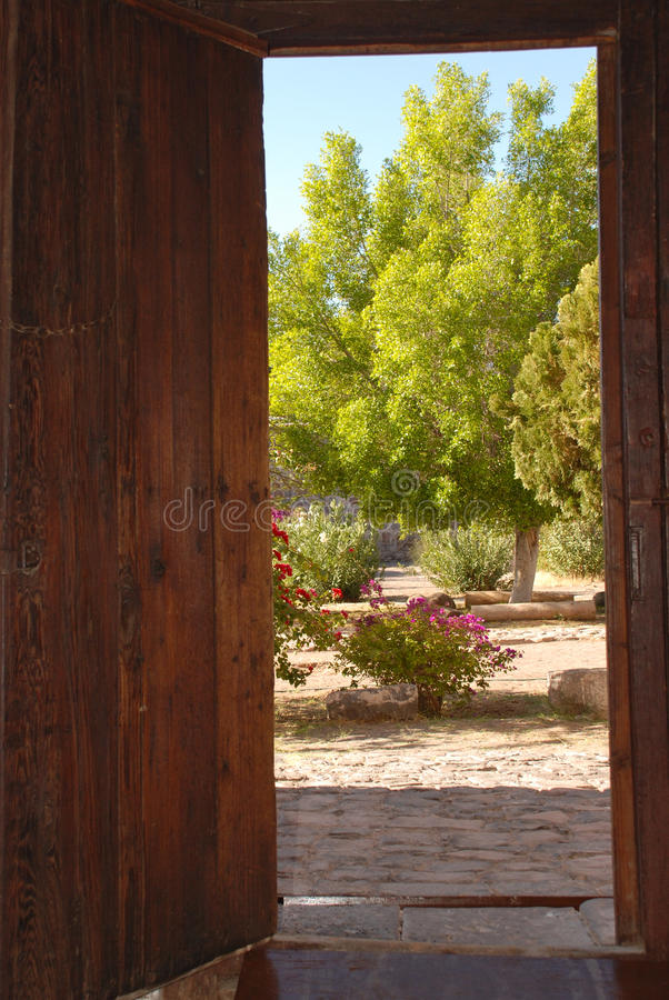 dröm- trädgård arkivbild