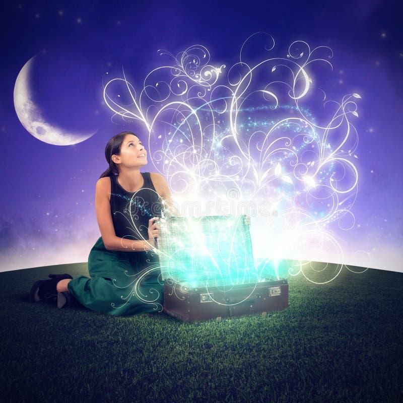 drömlik flicka arkivfoto
