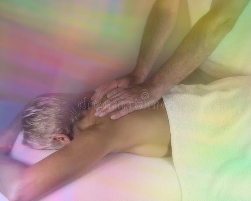 Drömlik läka massageperiod fotografering för bildbyråer