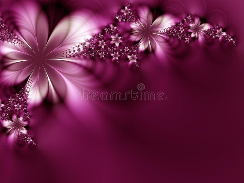 drömlika blommor royaltyfri illustrationer