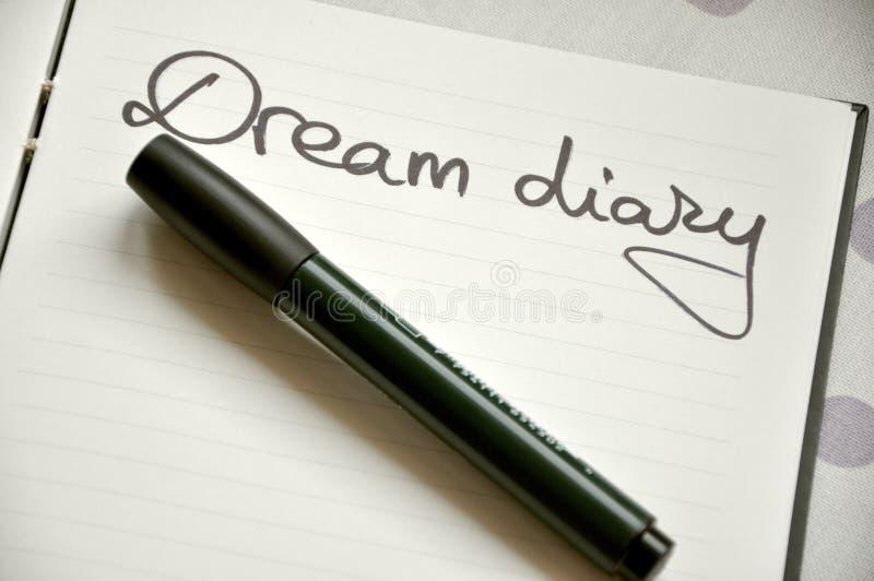 Drömm dagbokbegrepp royaltyfria foton