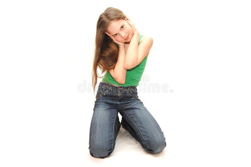 drömm flickatonåringen fotografering för bildbyråer