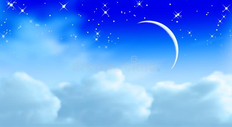 drömm skyen stock illustrationer