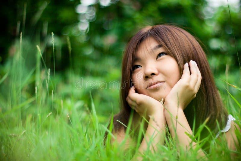 drömma flicka fotografering för bildbyråer
