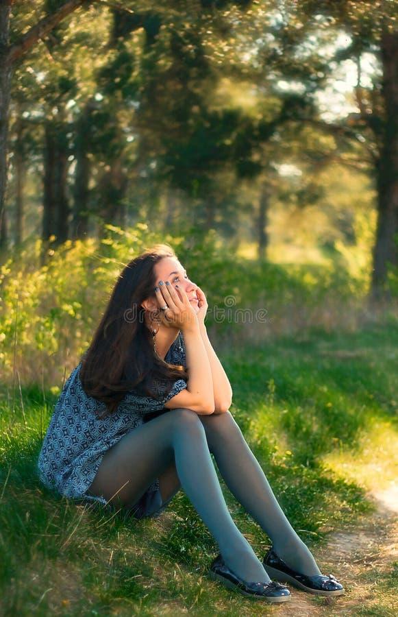 drömma flicka arkivfoton