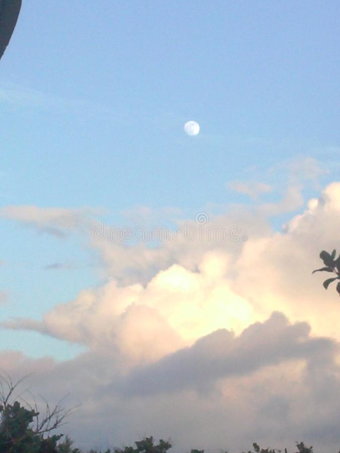 Drömma i molnen en morgon royaltyfri fotografi