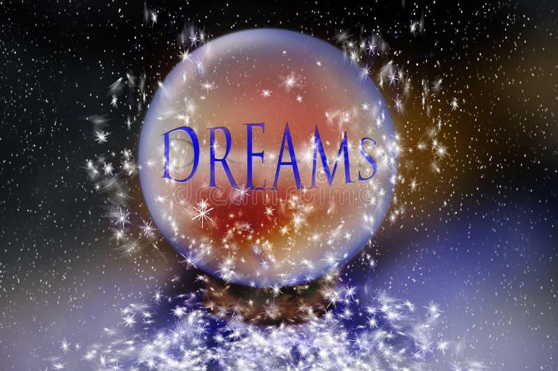 drömmar vektor illustrationer