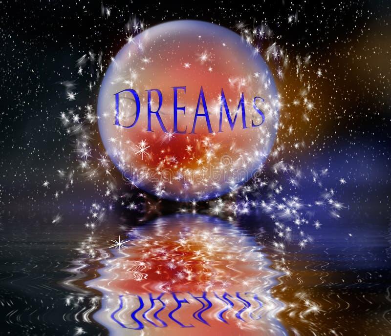drömmar royaltyfri illustrationer