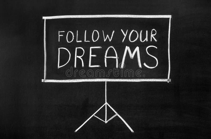 drömmar följer ditt royaltyfria bilder