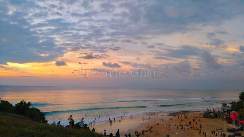 Drömmarnas landstrand, Bali Indonesien fotografering för bildbyråer
