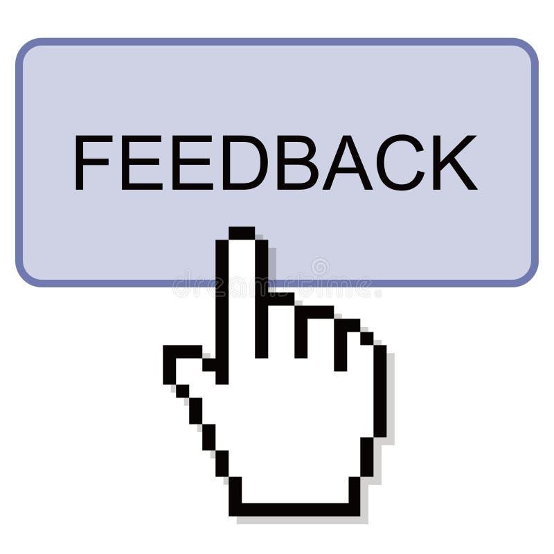 Drücken Sie Feedback-Knopf lizenzfreie abbildung