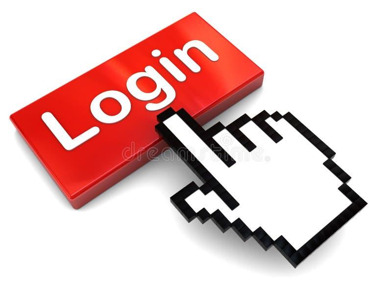 Drücken Sie LOGON-Taste ein lizenzfreie abbildung