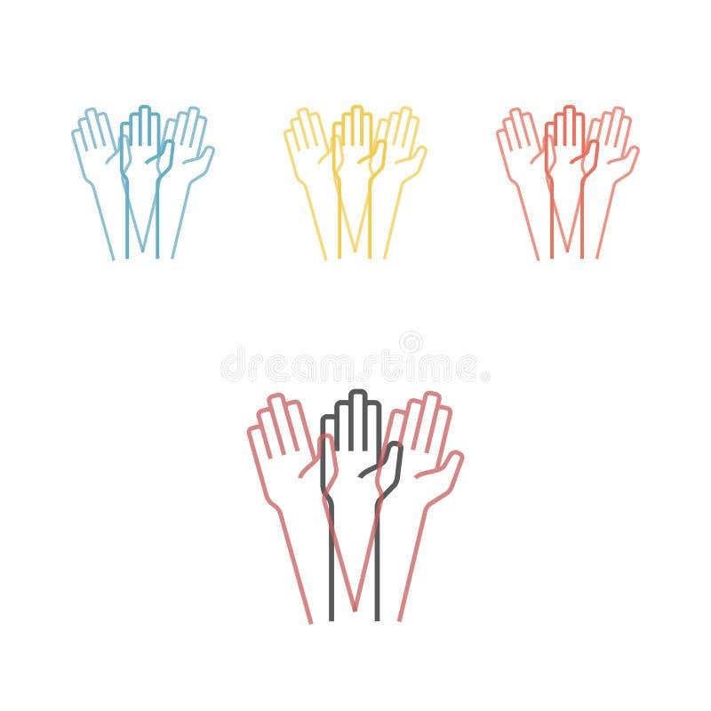 Drżenie ręki również zwrócić corel ilustracji wektora ilustracji