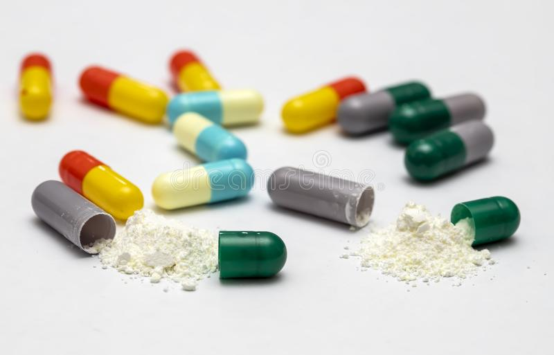 Capsules and pills for health royalty free stock photography