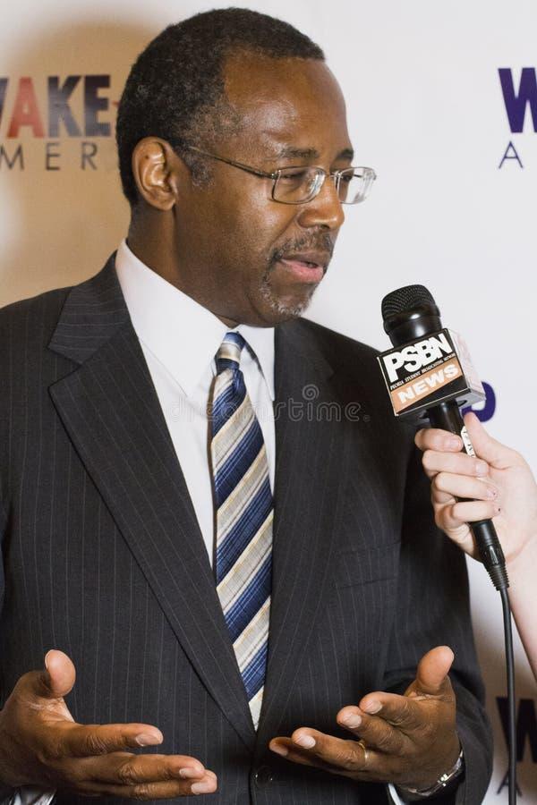 Dr. Ben E Carson que corre possivelmente para U Presidente de S imagem de stock