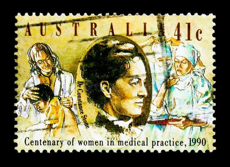 Dr. Constance Stone, Jahrhundert von Frauen in Arztpraxis serie, circa 1990 stockfoto