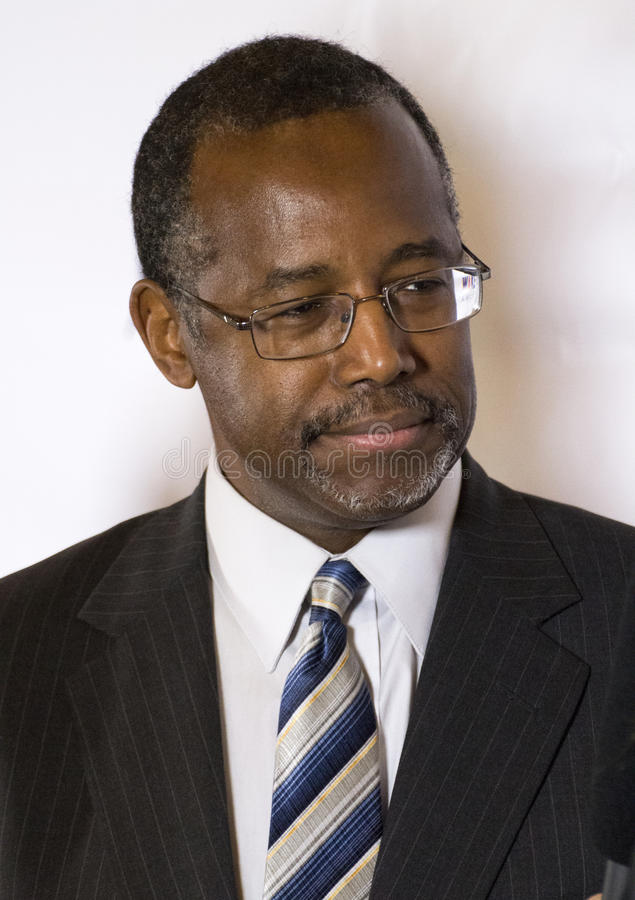 Dr för presidents- lovande person Ben Carson arkivfoto