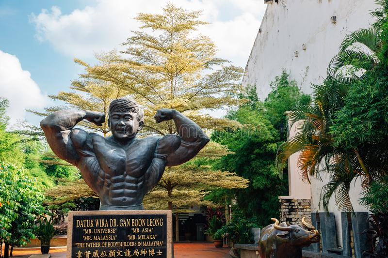 Dr. Gan Boon Leong Statue and Memorial park at Malacca old town in Malacca, Malaysia royalty free stock image
