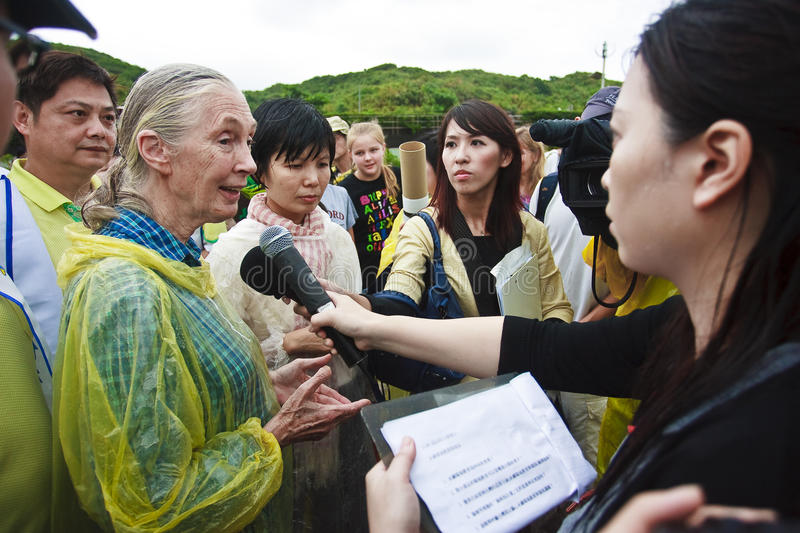 Download Dr. Jane Goodall In 2010 Television Interview Editorial Stock Photo - Image: 16067488