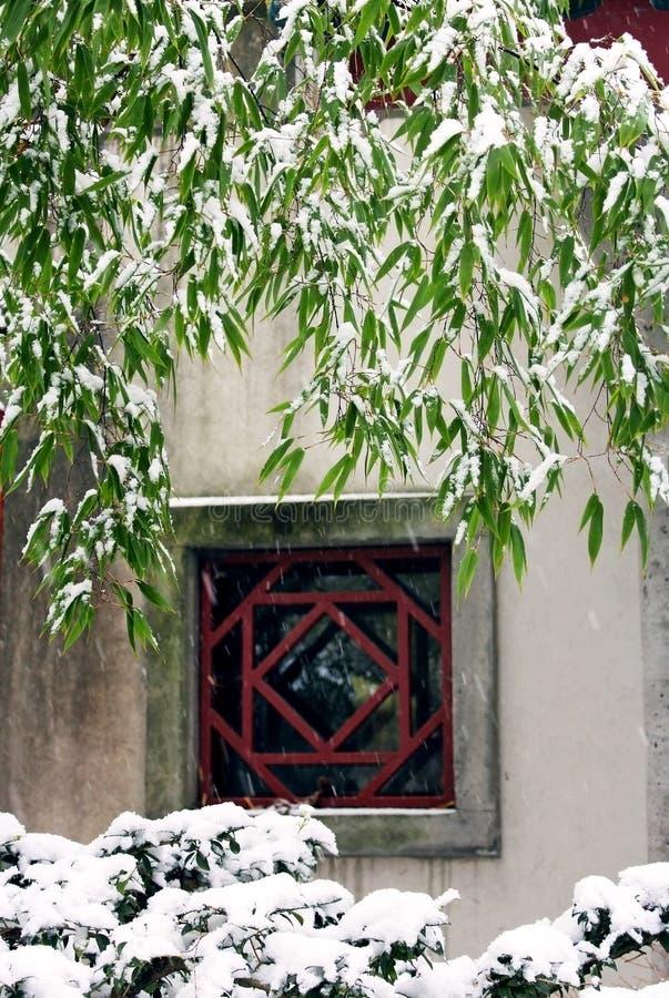 Dr. Jardim chinês clássico de Sun Yat-sen no inverno fotos de stock