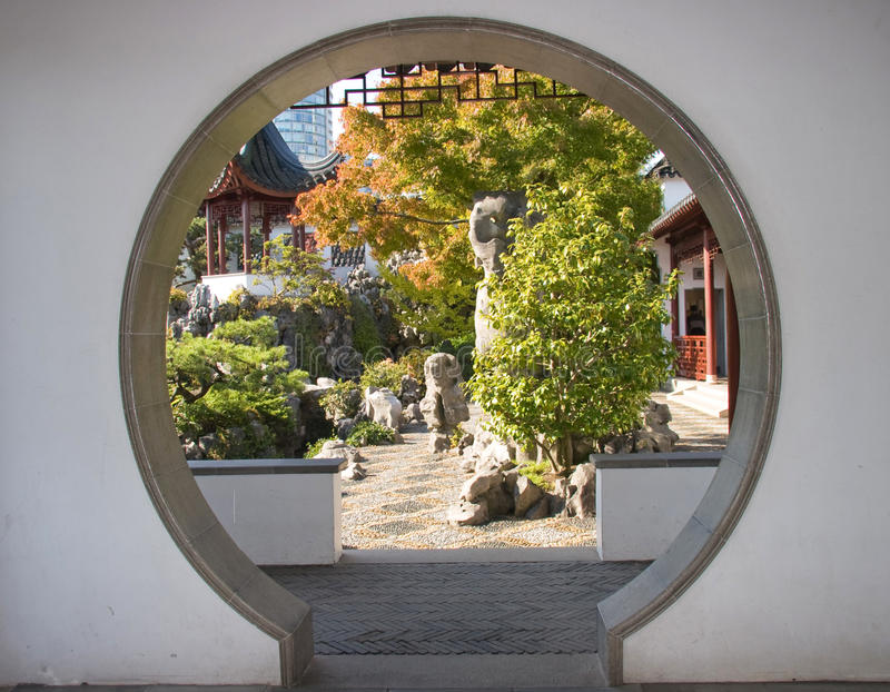 Dr. Jardins de Sun Yat-sen, Vancouver Chinatown image stock