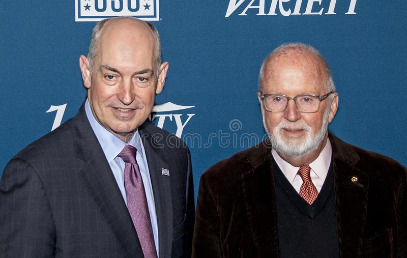 Dr. JD Crouch II & Gerry Byrne at Variety 3rd Annual Salute to Service Event stock photography